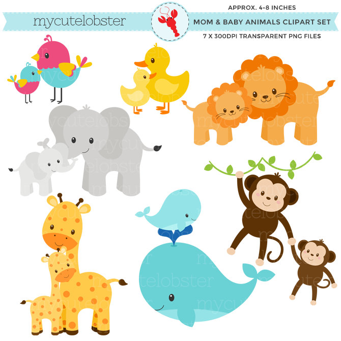 Baby Zoo Animals Clip Art 7 .