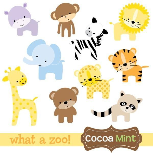 Baby Zoo Animals Clip Art-Baby zoo animals clip art-3