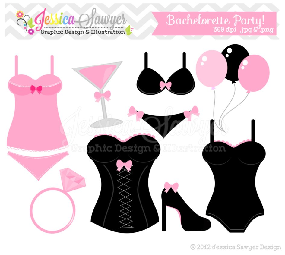 Bachelorette Party Clip Art by JessicaSawyerDesign ...