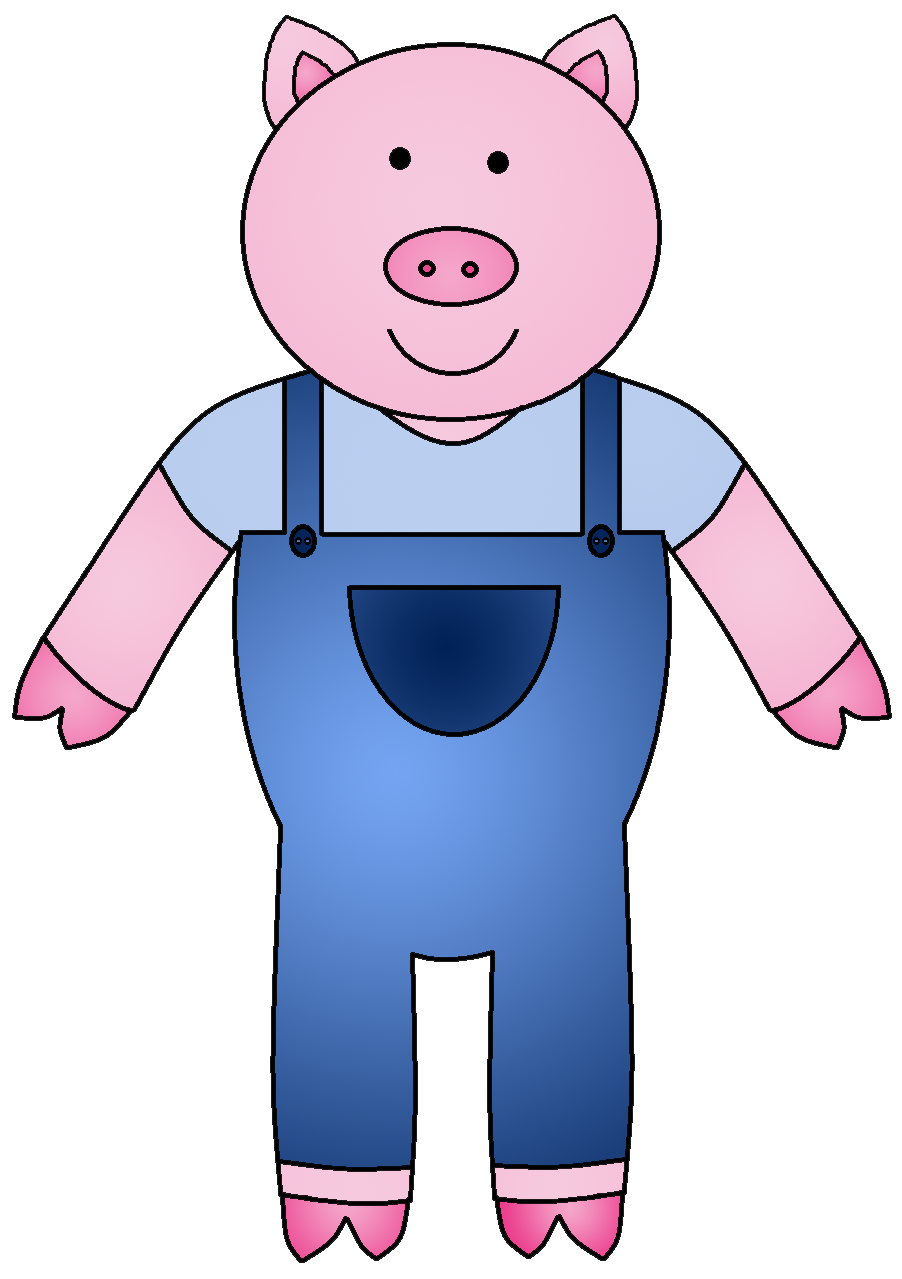 Back Gallery For 3 Little Pigs Book Clip Art