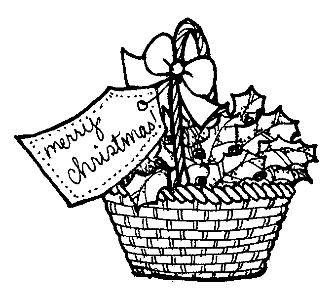 Back Gallery For Christmas Gift Basket Clip Art