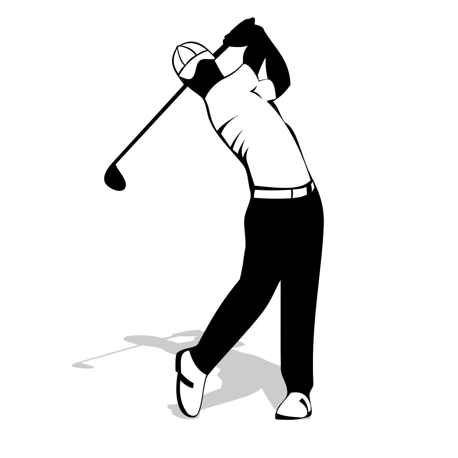 Back Gallery For Golfer Silhouette Clip Art