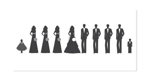 Back Gallery For Wedding Party Silhouette Clip Art