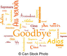 ... Background goodbye - background wtih goodbye and ciao, and.