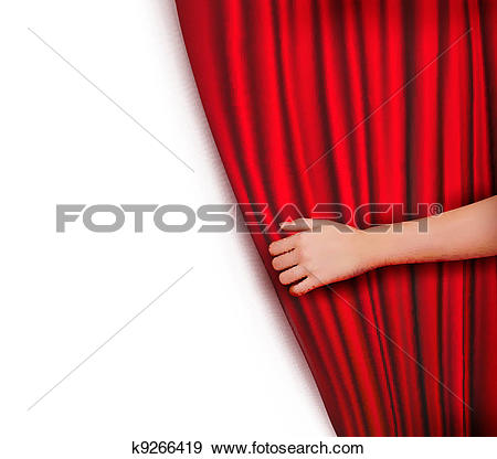 Background with red velvet curtain-Background with red velvet curtain-13