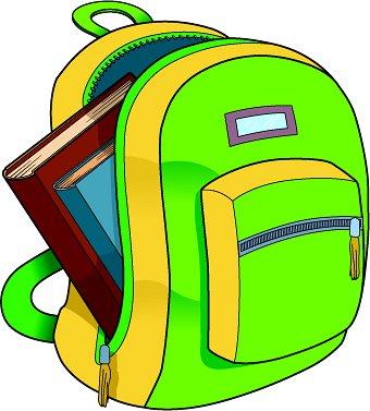 backpack clipart · bookbag% .