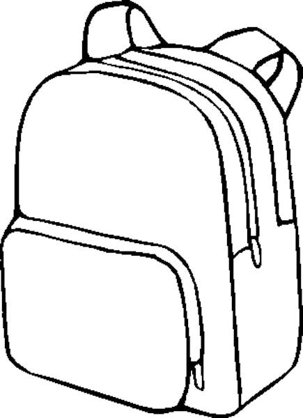 Backpack clipart 5