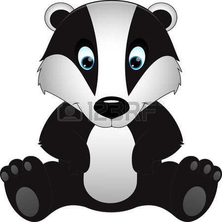 badger: cartoon badger children illustration Illustration