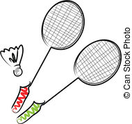 ... Badminton - Illustration of two rack-... Badminton - Illustration of two rackets and a shuttlecock-9