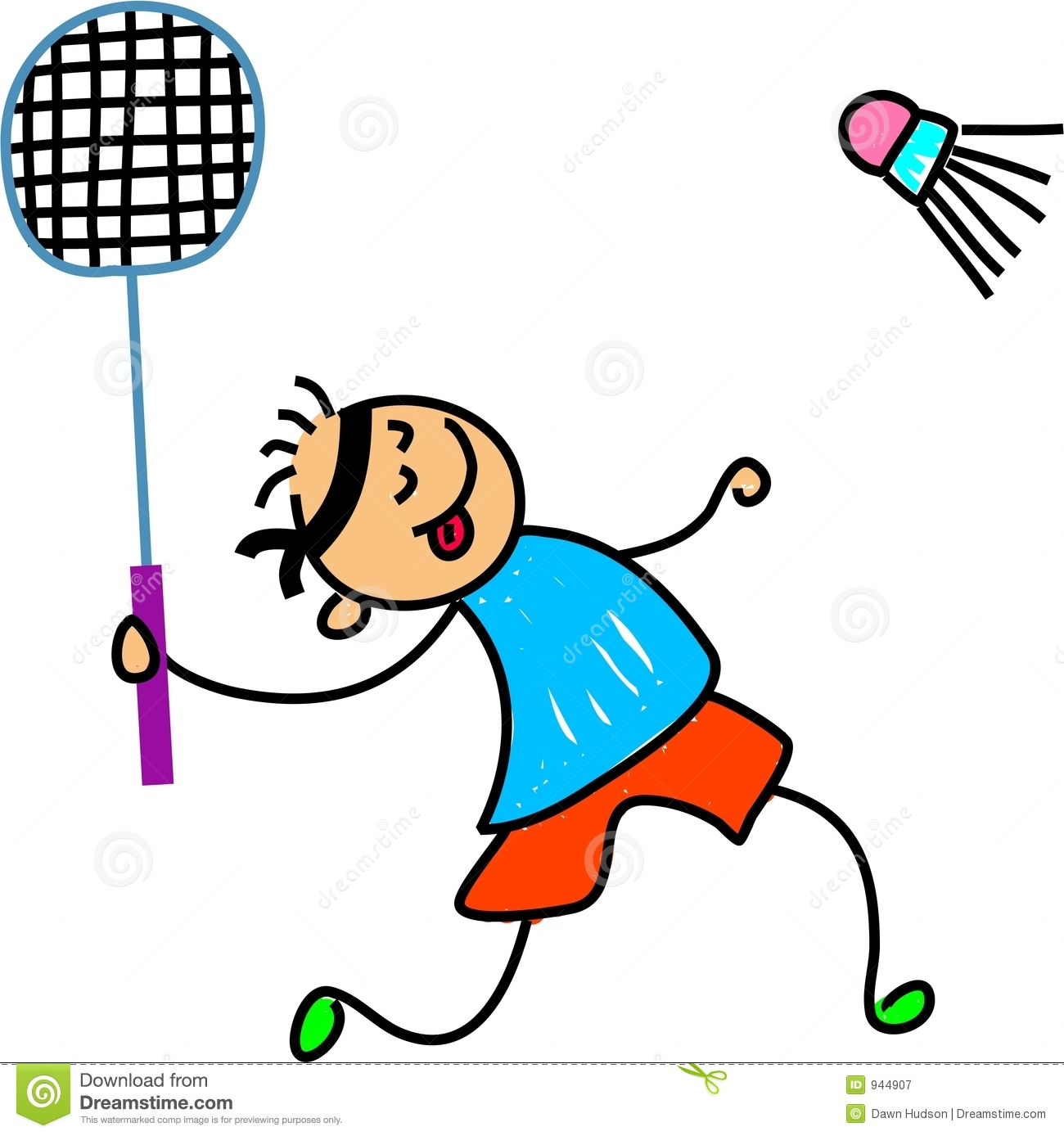 Badminton kid Royalty Free .-Badminton kid Royalty Free .-5