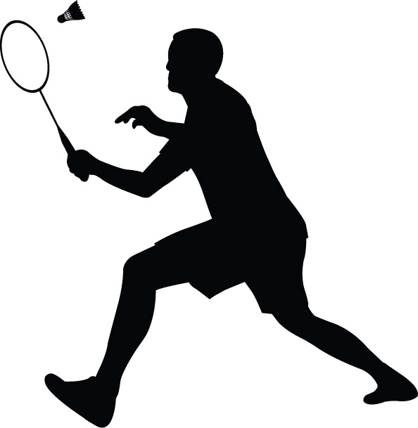 Badminton player clip art-Badminton player clip art-4