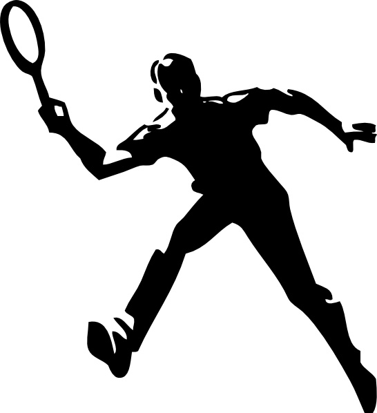Badminton Player Clipart-Badminton Player Clipart-16