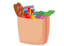 bags of groceries clipart. Size: 65 Kb