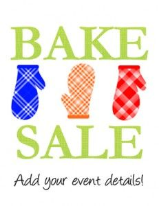 Bake sale cookie sale clipart