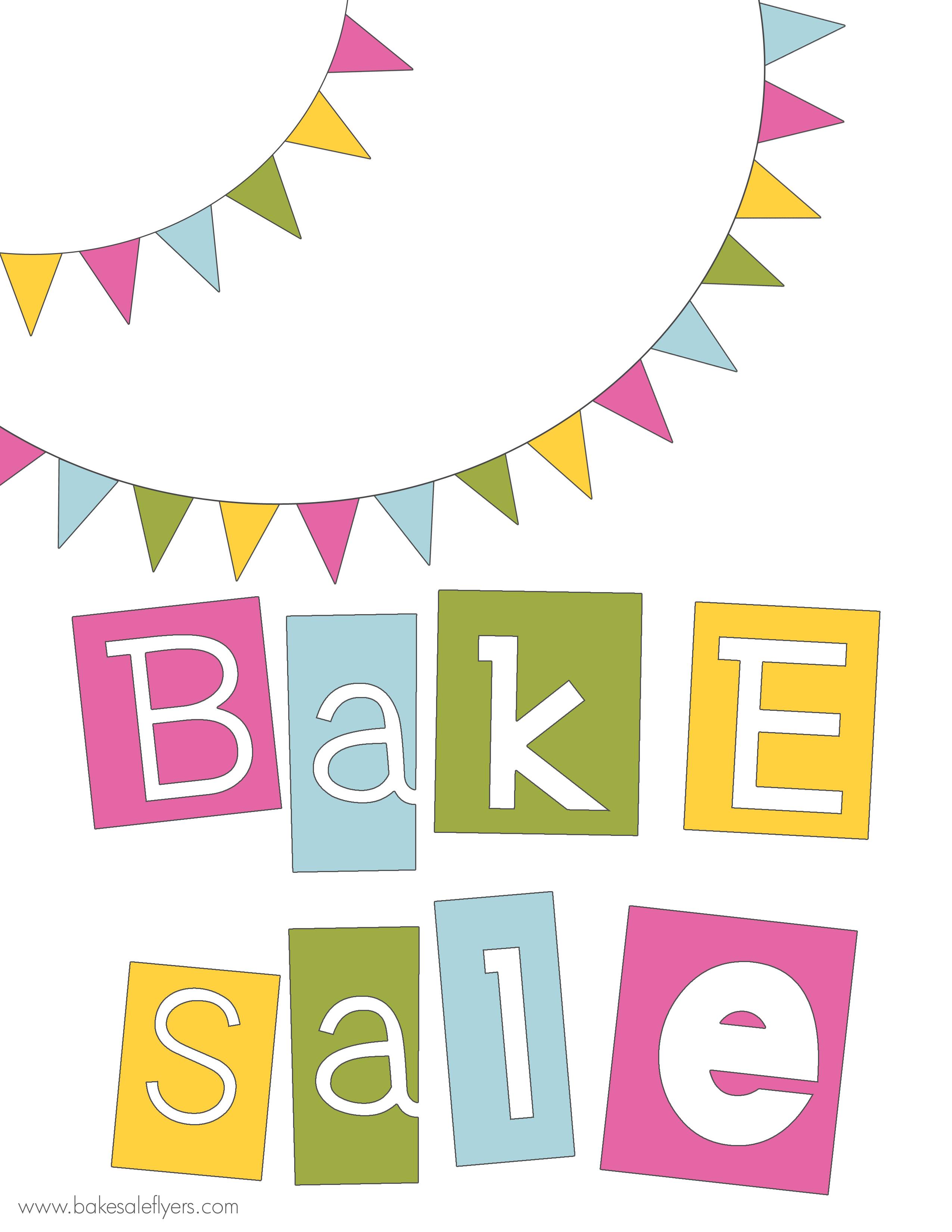 Bake Sale Fundraiser Clipart Homz Xyz
