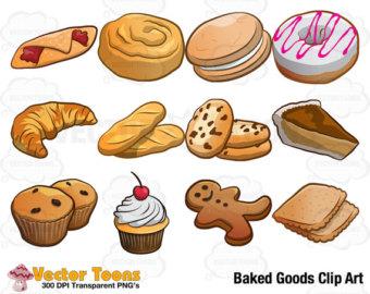 Baked Goods Clip Art, Digital Clipart, Digital Graphics