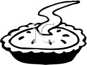 Baking Clipart Black And White Black And White Steaming Pie 100514