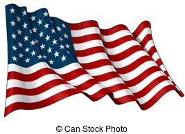 Bald Eagle American Flag Clip Artby Dazdraperma9/657; Flag of USA - Illustration of a waving American flag against.