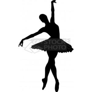 Ballerina Clip Art Vector .