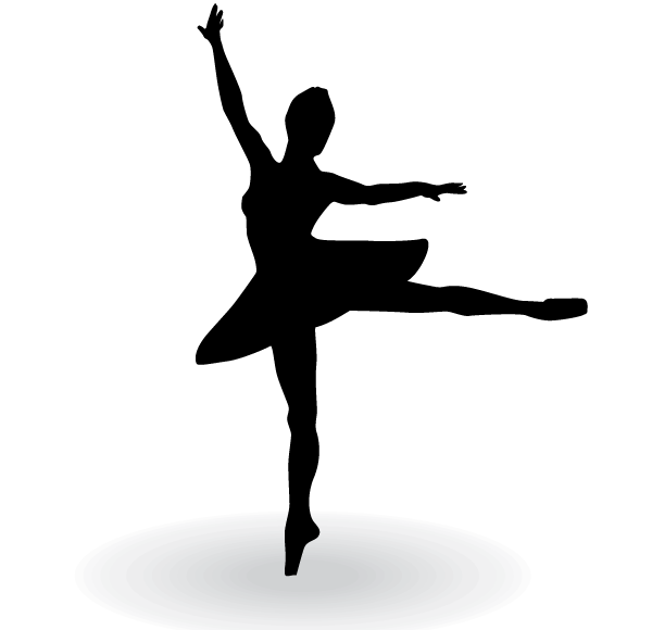 Ballerina Silhouette Vector Clip Art | 123Freevectors | Art | Pinterest | Ballerina silhouette, Clip art and Clipart images