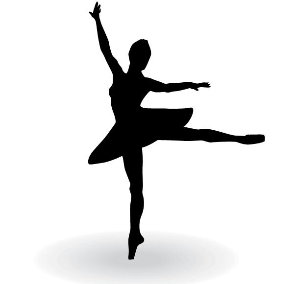 Ballerina Silhouette Vector Clip Art | 123Freevectors | Art | Pinterest | Ballerina silhouette, Clip art and Clipart images