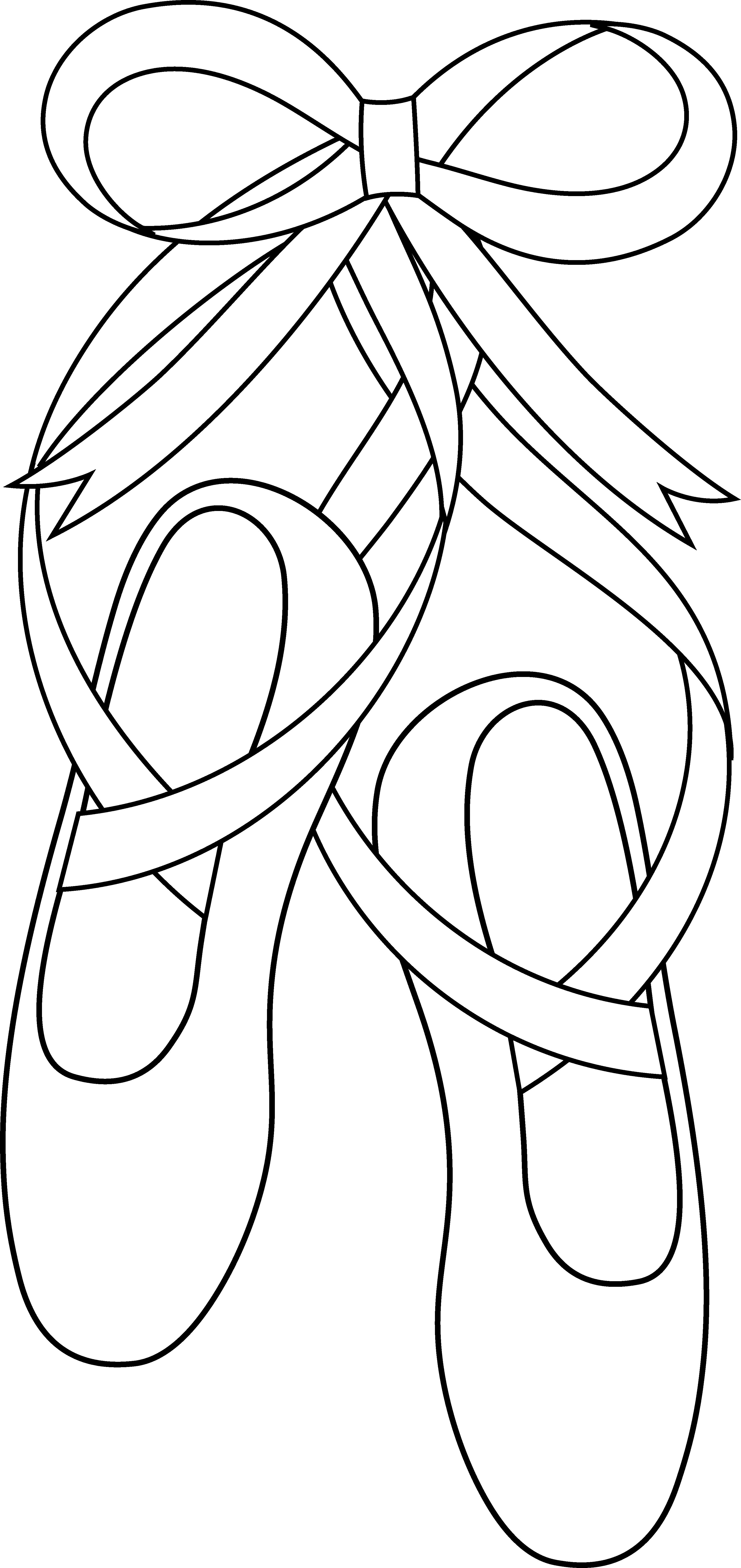 Ballet Shoes Clip Art Free .