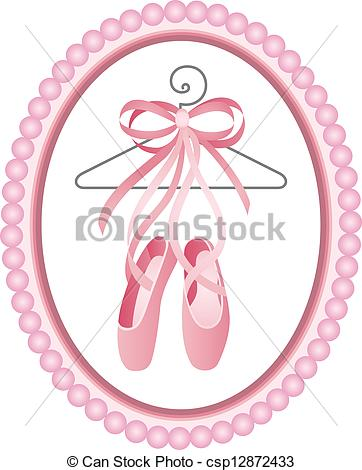 Ballet shoes, Vector illustration Clip Artby aroas1/246; Ballet shoes label - Scalable vectorial image representing a.