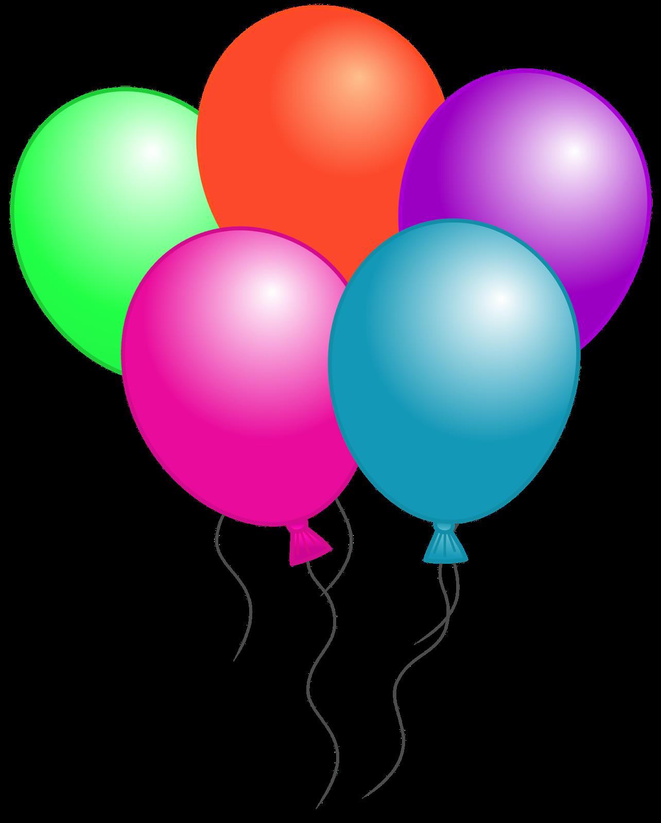 happy birthday balloons clipa