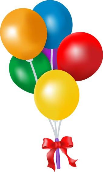 17 Birthday Balloon Clip Art