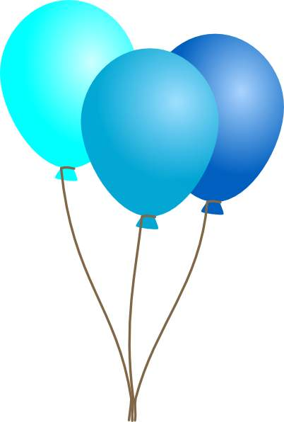 Balloon blue ballons clipart - Clipart Of Balloons