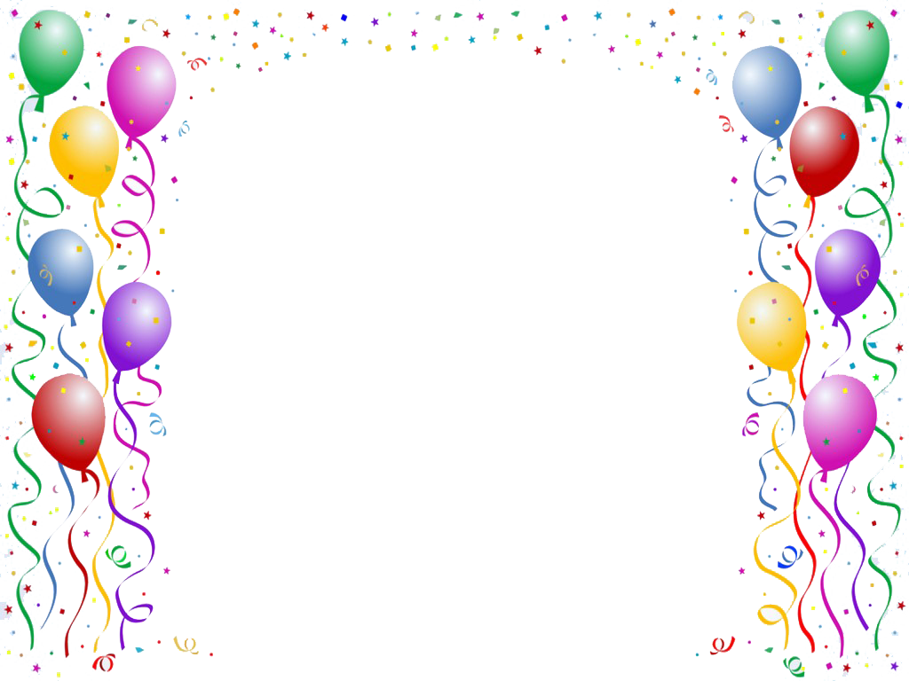 Balloon Border Backgrounds For Powerpoint Png