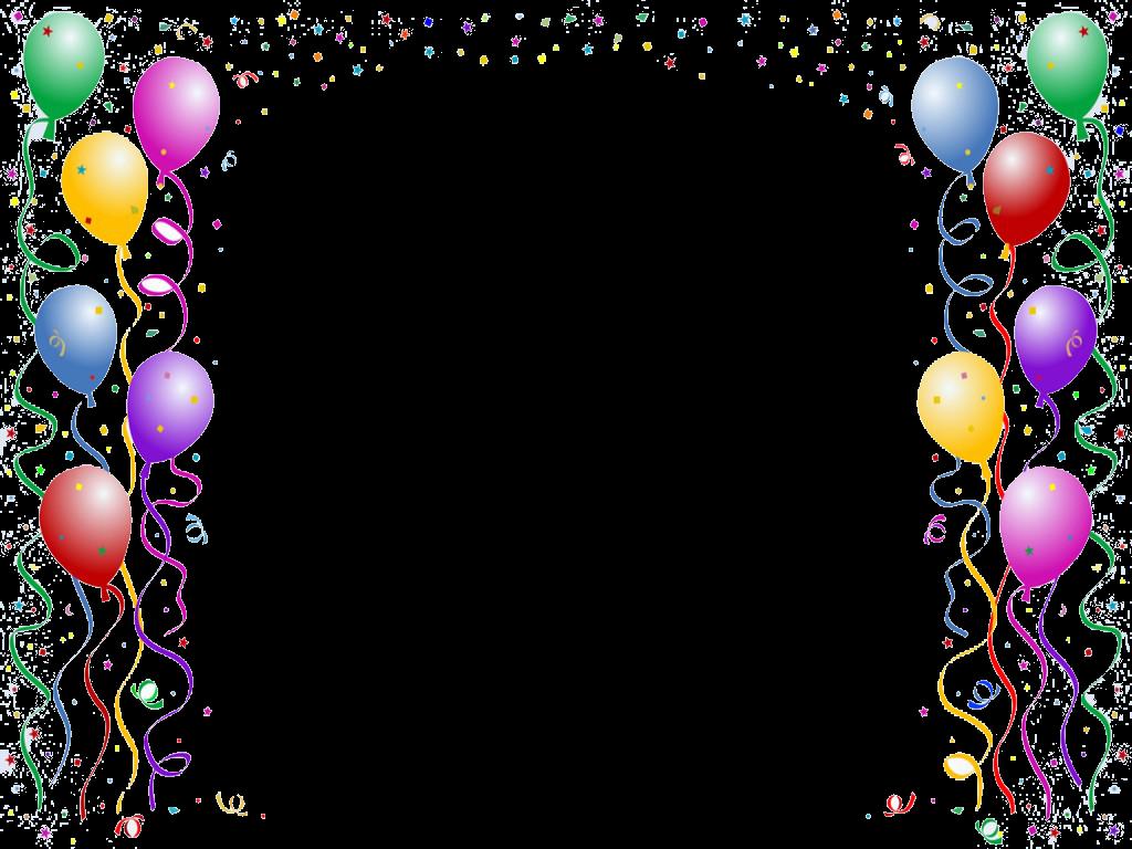 Balloon Border Backgrounds Fo - Birthday Border Clip Art