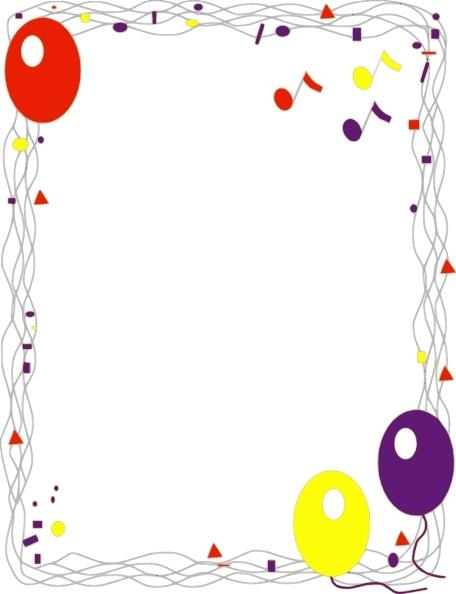 Balloon Border clip art