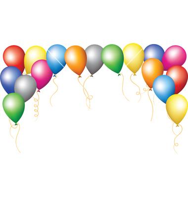 Balloon Border Clip Art Fun Time Website