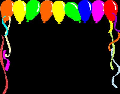 Balloon Borders Clipart #1