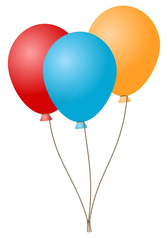 Birthday Balloons Clip Art-birthday balloons clip art-6