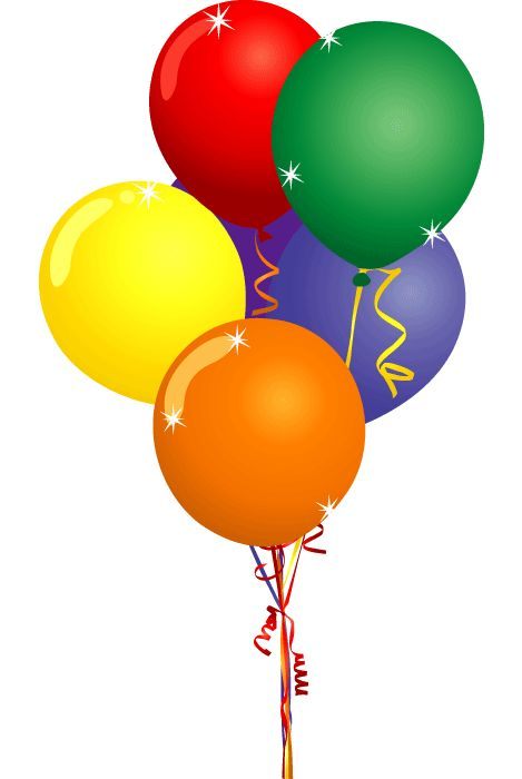 Birthday Balloons Clip Art | Free Party -Birthday Balloons Clip Art | Free Party Clipart - Birthday Cake Balloons  and Confetti Clip Art-7