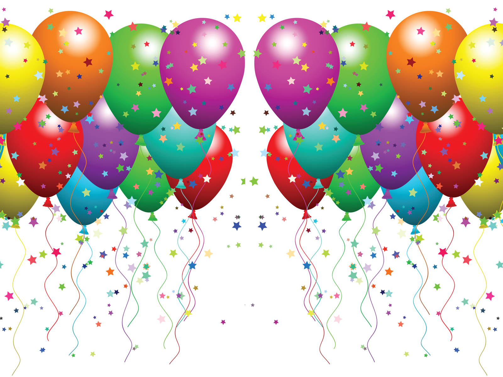 Balloons And Confetti Clip Art Clipart Free Clipart