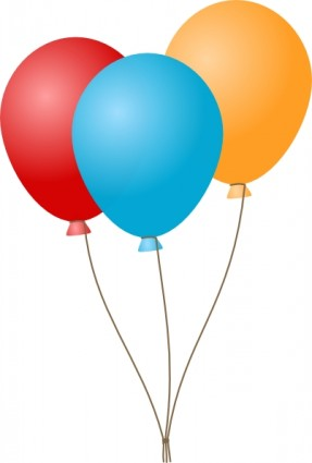 Balloons clip art Free vector in Open office drawing svg