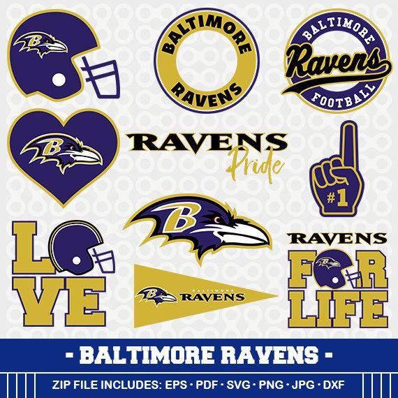 Baltimore Ravens SVG, Ravens Football, Svg Cameo, DXF File, Baltimore Ravens ,