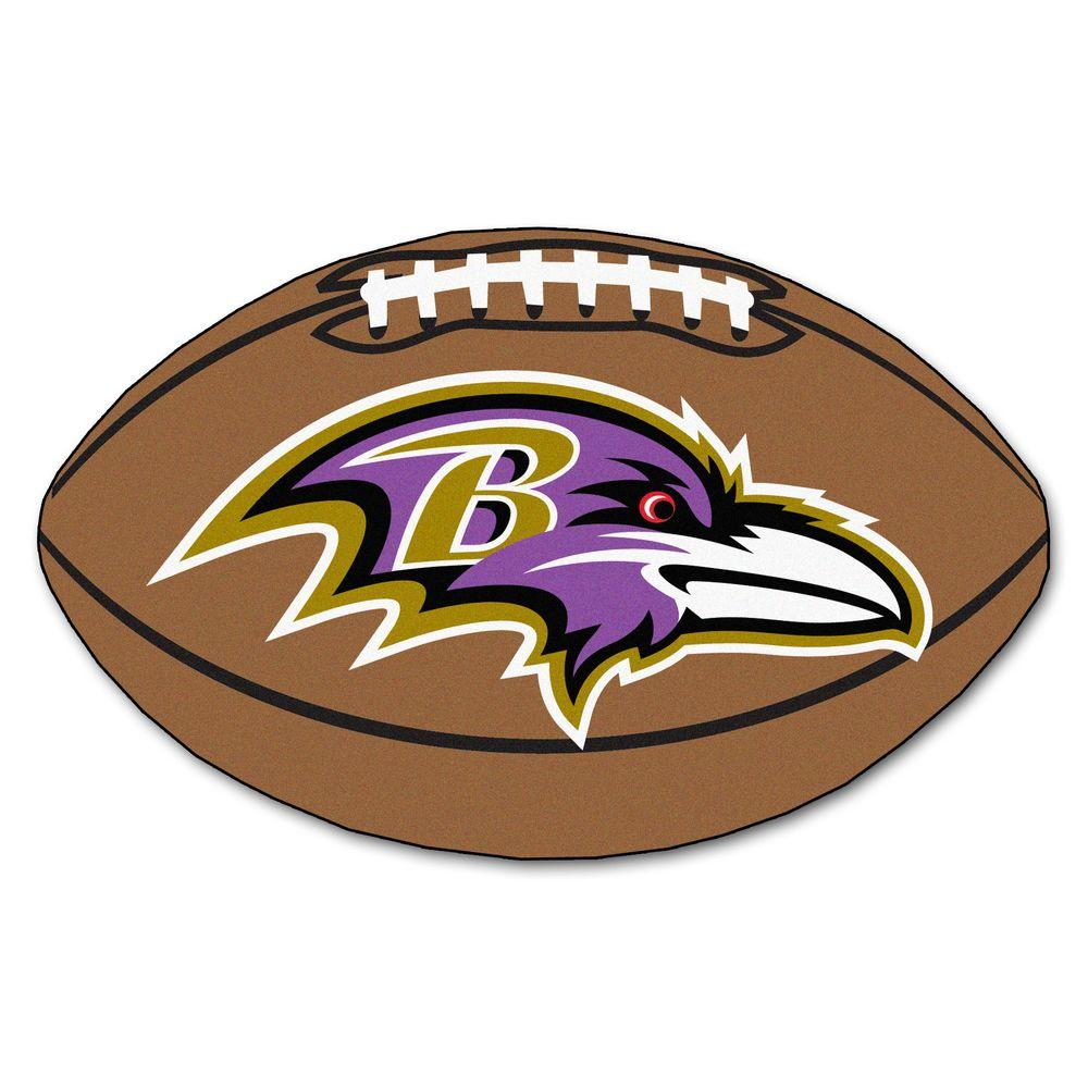 FANMATS NFL Baltimore Ravens Brown 2 Ft.-FANMATS NFL Baltimore Ravens Brown 2 ft. x 3 ft. Specialty Area Rug-17