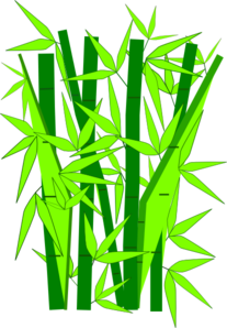 Bamboo Green Clip Art