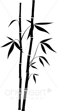 Black Bamboo Clipart