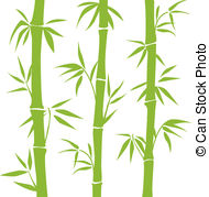 ... Bamboo - Green vector Bamboo on the white background