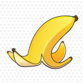Banana Peel Clipart Graphic