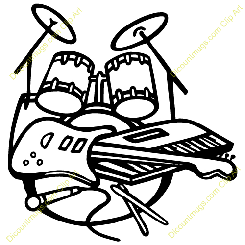 Band Instruments Clip Art Rock Band Inst-Band Instruments Clip Art Rock Band Instruments-7
