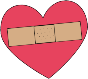 Bandaged Heart Clip Art Image