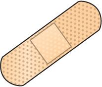 Bandaid bandage black and white clipart kid