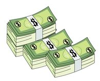banknotes stack of money clipart. Size: 75 Kb