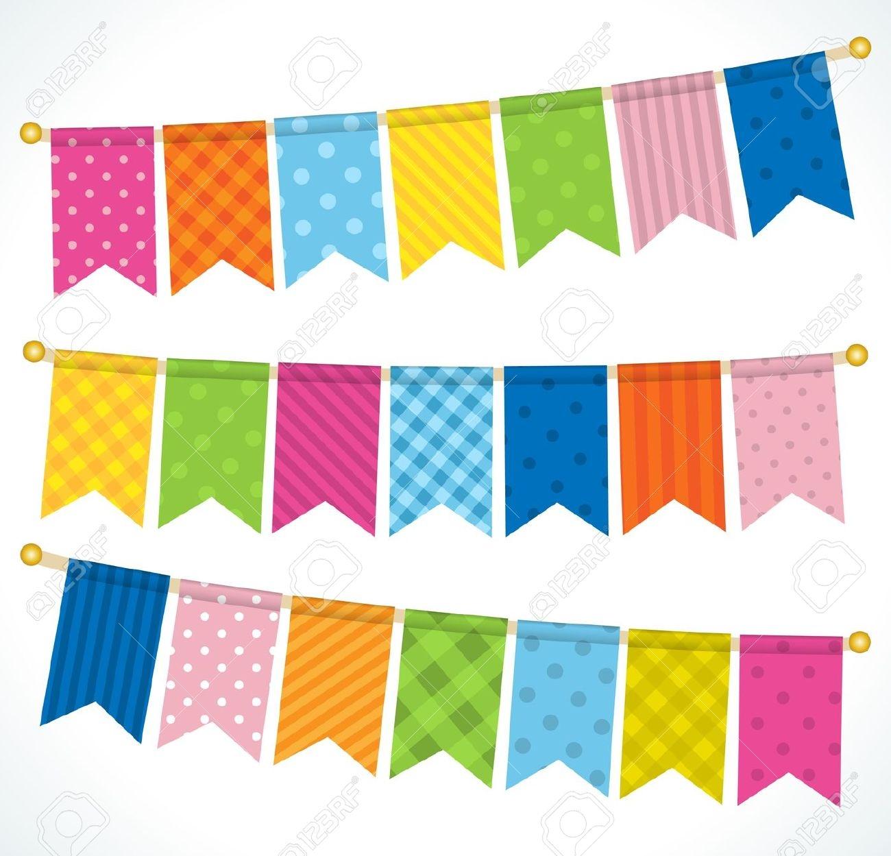 Banner Clip Art Flag ... bunting banner:-Banner Clip Art Flag ... bunting banner: Vector bunting-10